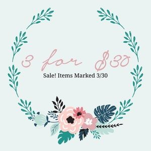 Items marked 3/$30 are on sale ! 3 items for $30